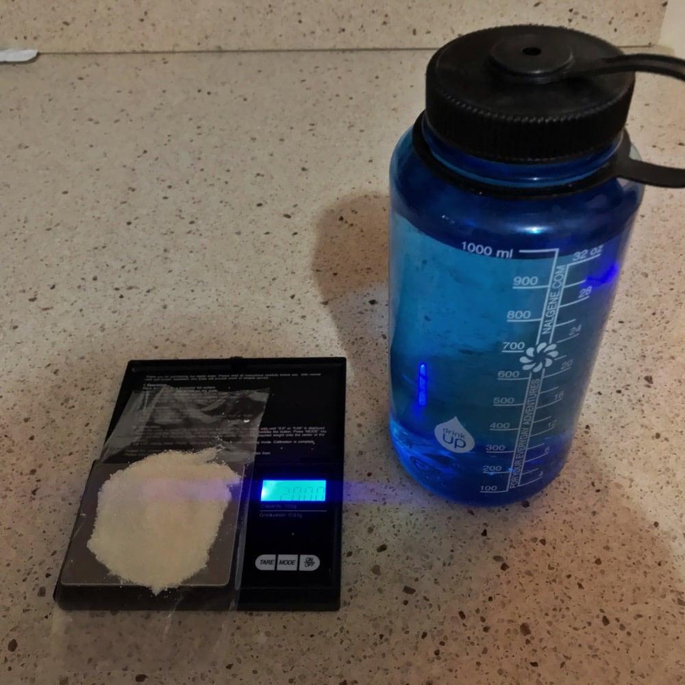 agua con azucar