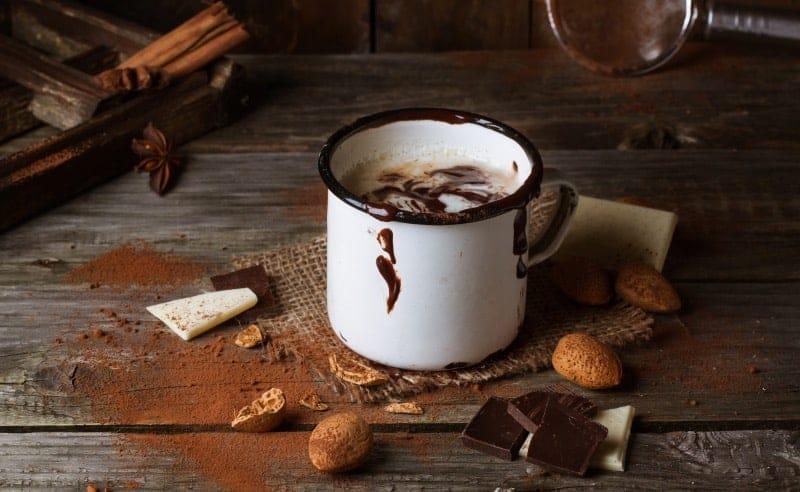 coctel chocolate caliente con tequila