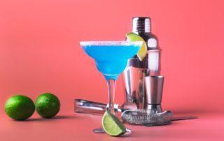 coctel margarita azul