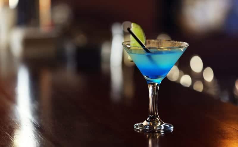 coctel margarita laguna azul