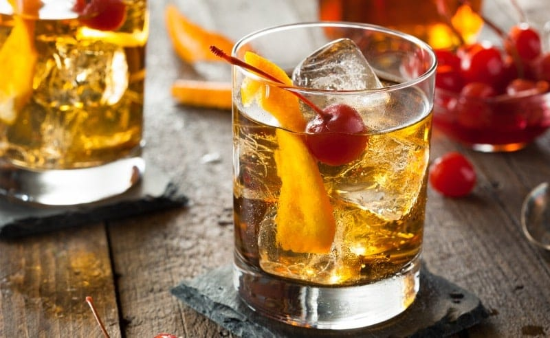 coctel tequila old fashioned