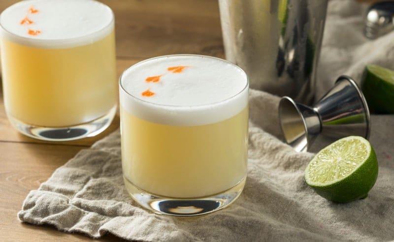 coctel tequila sour