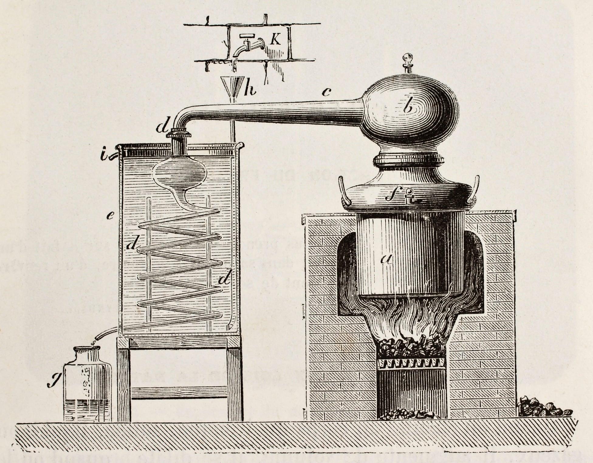 destilacion alambique vieja