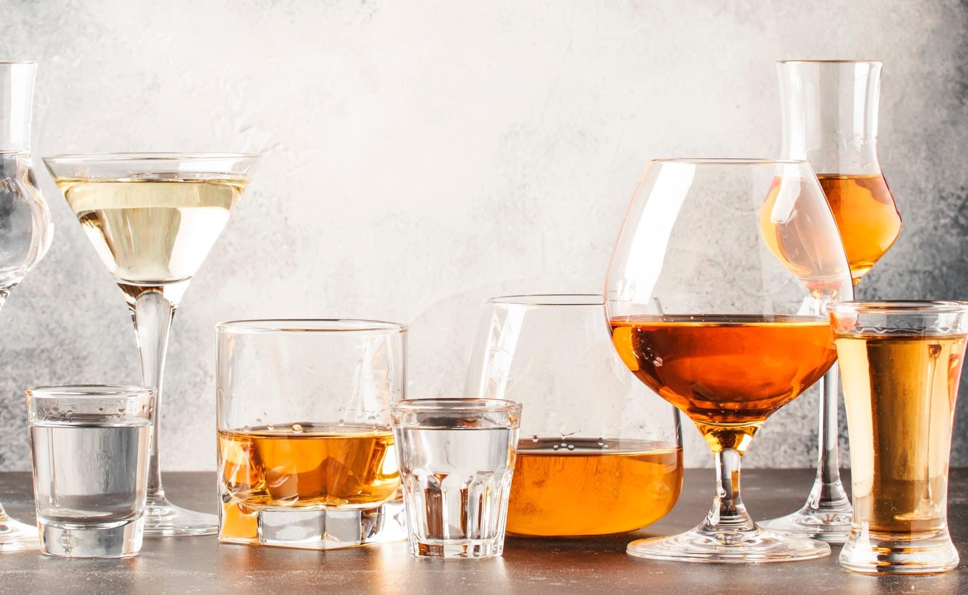 vaso para tomar tequila